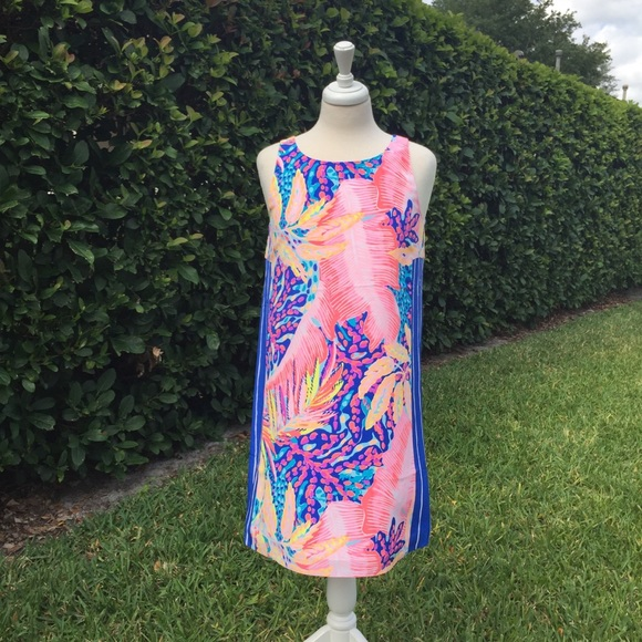 fd3427869f1 Lilly Pulitzer Silk Jackie Off The Grid Shift NWT